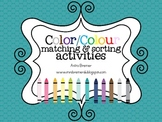 Color/Colour Matching & Sorting Activities