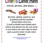 Colored Candy Math (M&Ms, Skittles, Jelly Beans, etc.)