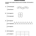 Colored Fractions Worksheet