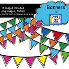 Colorful Banners {Kady Did Doodles}