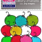 Colorful, Bright, and Glittery Ornaments {Clipart for Christmas}
