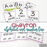 Colorful Chevron Alphabet and Number Line