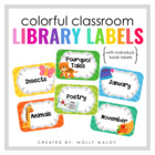 Colorful Classroom Library Labels with Individual Book Labels