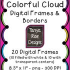 Colorful Cloud Digital Frames
