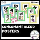 Colorful Consonant Blend Poster Set