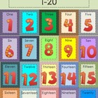 Colorful Counting Number Cards: Numbers 1 - 20