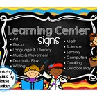 Colorful Designs Learning Center Signs ~ Featuring Graphic