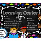 Colorful Dots Learning Center Signs ~ Featuring Graphics b