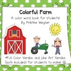 Colorful Farm ~ Student Made Color Word Book