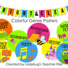 Colorful Genre Posters (Bright & Clear Decor)