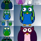 Colorful Owl Clip art for Teachers