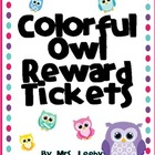Colorful Owl Reward Tickets