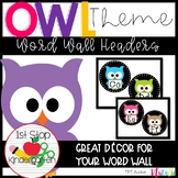 Colorful Owl Word Wall Headers