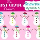 Colorful Snowmen {Digital Clip Art}