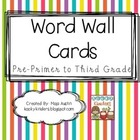Colorful Stripe Theme Word Wall