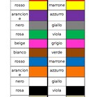 Colori (Colors in Italian) Dominoes
