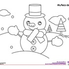 Coloring Activity: Muñeco de nieve / Snowman