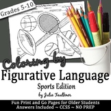 Coloring by Figurative Language {Sports-Themed} FREEBIE