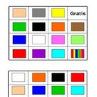 Colors Bingo Board Class Set of 30