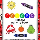 Colors I Know Activity Pack