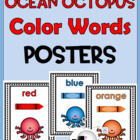 Color Words Poster Set – {Ocean / Octopus Theme}