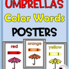 Color Words Poster Set {Umbrellas}