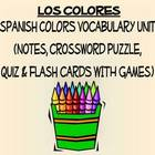 Colors Vocabulary Lists, Activities, Crossword, Games, and