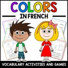 Colors in French - vocab. sheets, worksheets, memory & bin