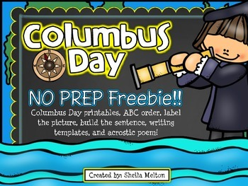 Columbus Day FREE No Prep Printables!