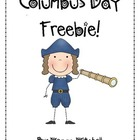 Columbus Day Freebie!