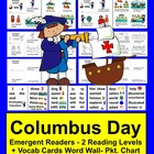Columbus Day Emergent Readers - 2 Reading Levels - 3 Versi