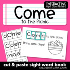 "Interactive Sight Word Reader ""Come to the Picnic"""