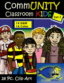 CommUNITY Classroom Kids: Set 2 (28 Piece Clip-Art of Dive