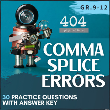 Comma Splice Practice Worksheet