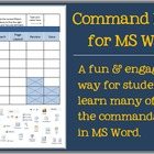 Command Match for MS Word! Grades 3-8