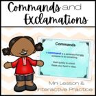 Commands and Exclamations PowerPoint MiniLesson