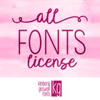 Commercial Font License- ALL FONTS