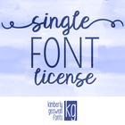 Commercial Font License- SINGLE FONT
