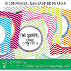 Commercial Use Square Painted Frames