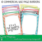 Commercial Use Striped Page Background Frames
