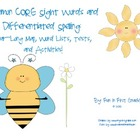 Common CORE Sight Word & Differentiated Spelling