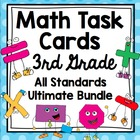 Common Core 3rd Grade  Math Task Cards Mega Bundle - All D