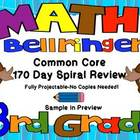 Common Core 3rd Grade-Spiral Math-170 Days-Projectable or
