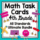 Common Core 4th Grade  Math Task Cards Mega Bundle - All D