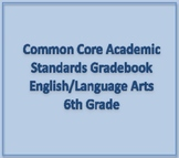 Common Core Academic Standards Gradebook 6th Grade English