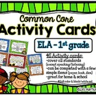 Common Core Activity Cards ELA - 1st grade