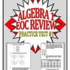 Common Core Algebra 1/Integrated 1 Practice Test