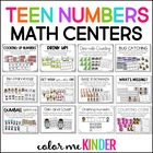 Teen Number Center Game Common Core Aligned