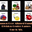 Division Center Games One to Six Common Core Aligned Bundled