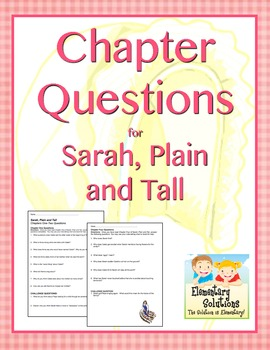 Common Core-Aligned Chapter Questions for Sarah, Plain and Tall